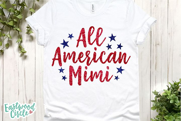 All American Mimi - A 4th of July SVG Cut File for Crafters