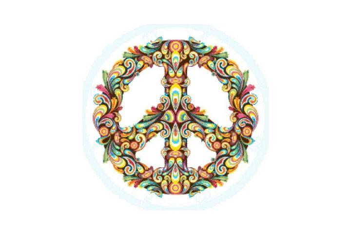Peace Wreath Cross Stitch Pattern