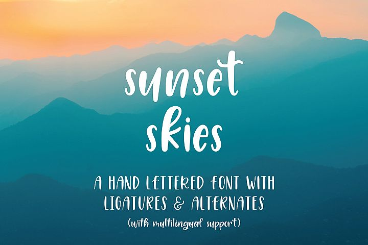 Sunset Skies Handwritten Sans Serif Font