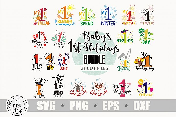 Baby first holidays svg bundle, My 1st day svg bundle