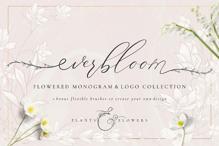 Flowered Monogram & Logo Collection