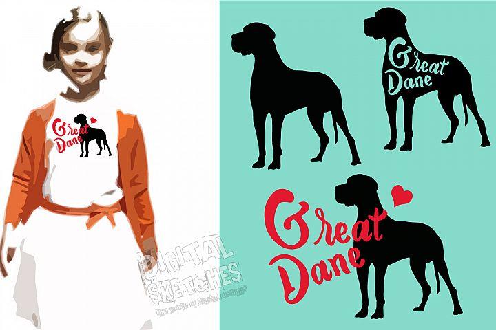 Great Dane Vector Graphics, Dogs Bundle SVG, Dog Cut File