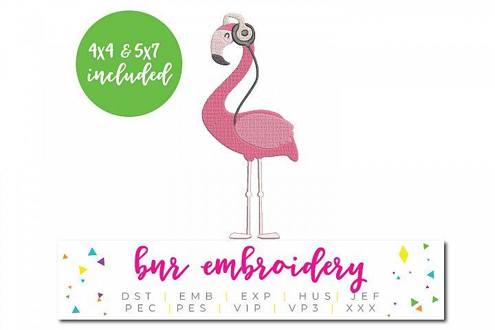 Flamingo Machine Embroidery Design