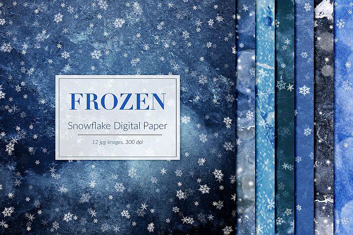 Witner Backgrounds, Frozen Digital Paper