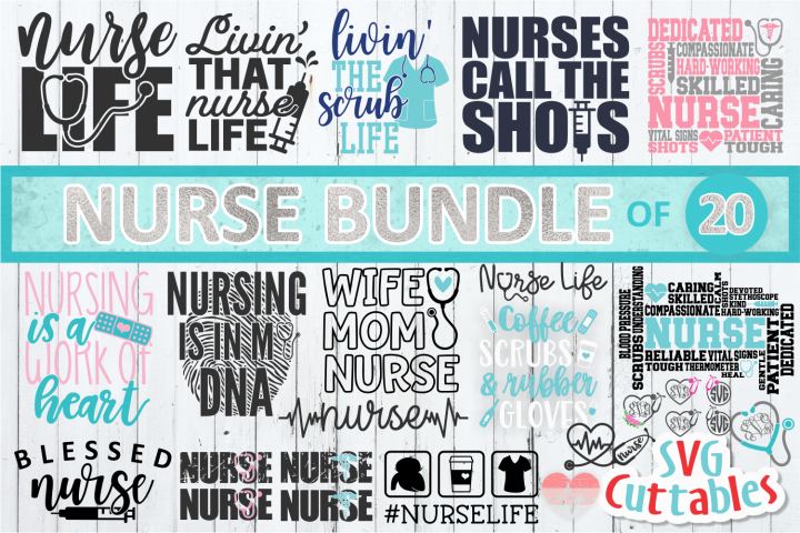 Nurse SVG Bundle | Nursing | SVG Cut Files