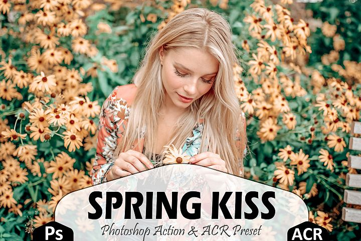 Spring Kiss Photoshop Actions And ACR Presets, pastel Ps