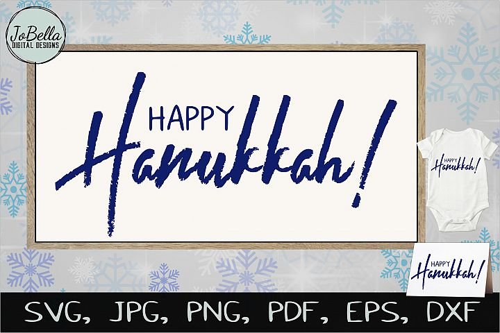 Happy Hanukkah! SVG, Printable & Sublimation PNG