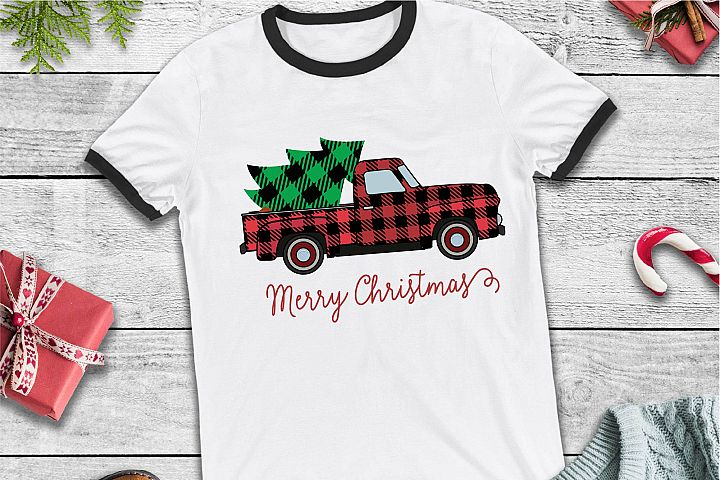Merry Christmas SVG, Vintage Truck Merry Christmas SVG