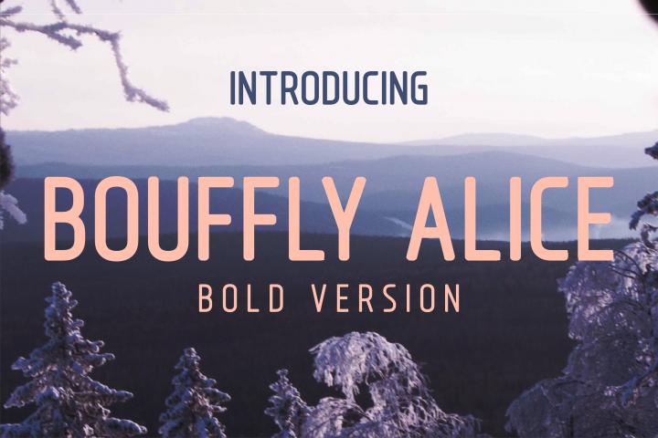 Bouffly Alice Bold Versionl Elegant font sans serif