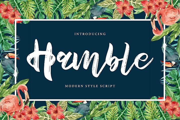 Hamble | Modern Style Script Font