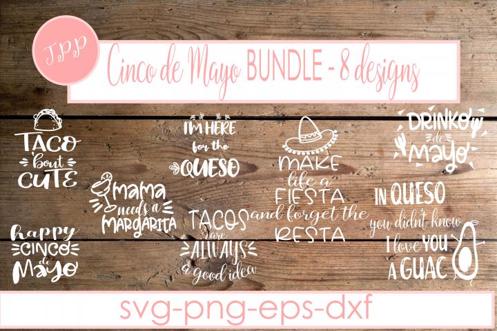 Cinco de Mayo Bundle, Tacos svg design file bundle