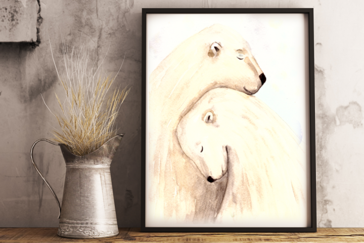 Love and Bears - Watercolor Illustration/Print