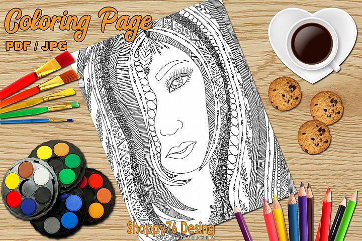I am a sensual goddess / coloring page