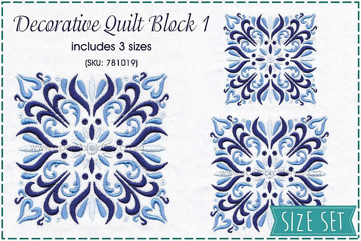 Decorative Quilt Block No1 Embroidery Design