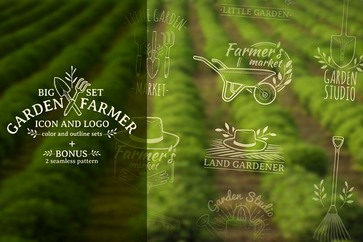 Garden/Farm icon and logo set
