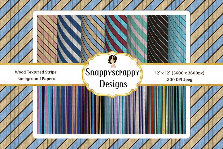 Wood Textured Stripes Background papers