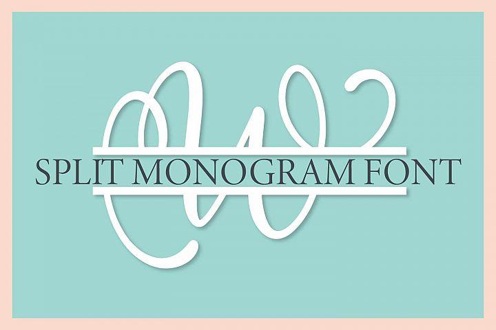 Split Monogram Alphabet Font - Hand Lettered Initials!