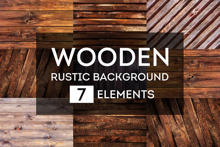 Rustic wooden backgrounds bundle