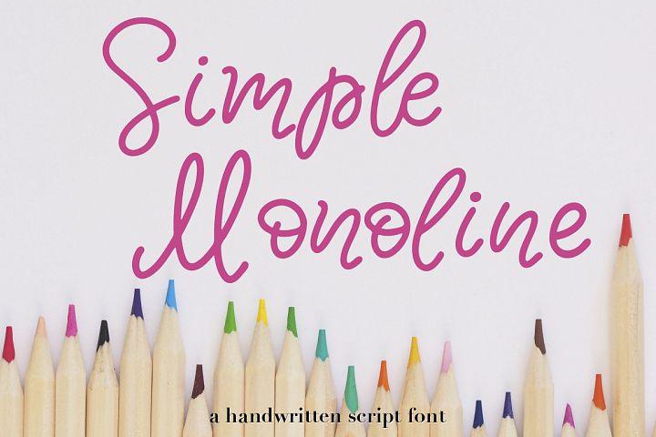 Simple Monoline A Handwritten Font