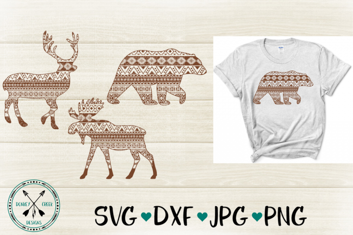 Mandala Forest Animals SVG