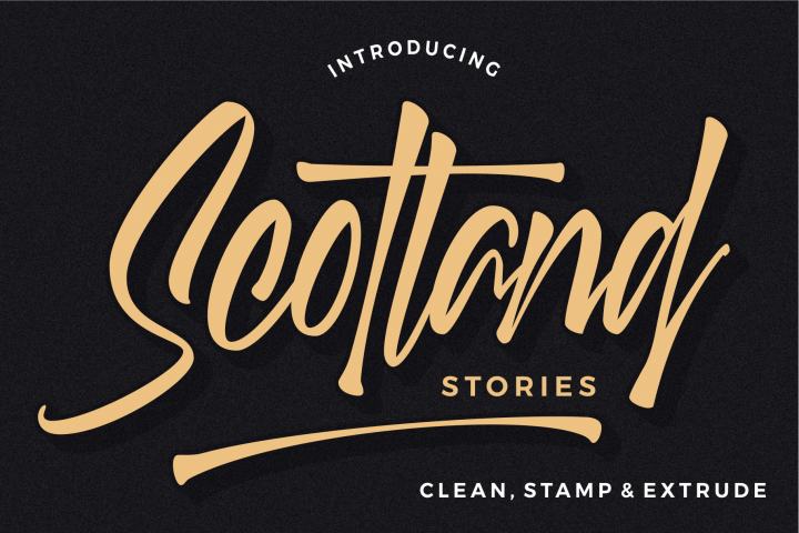 Scotland stories font
