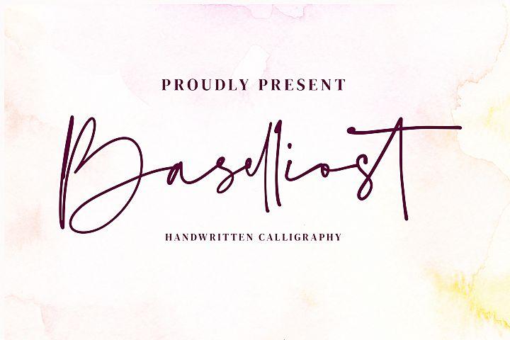 Baselliost handwritten Script font