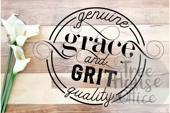 Grace and Grit Southern Faith Gratitude Saying SVG PNG JPEG