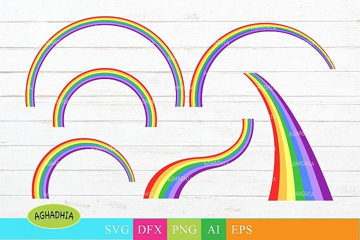 Rainbow Vector Icons/ Colourful Rainbow Illustration.