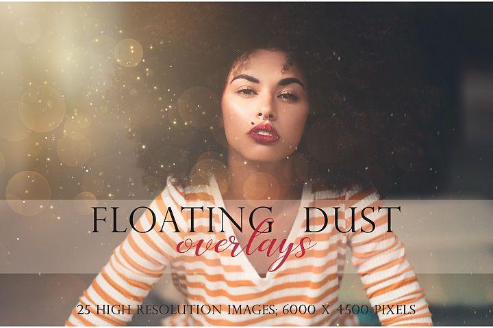 Floating dust photographic overlays
