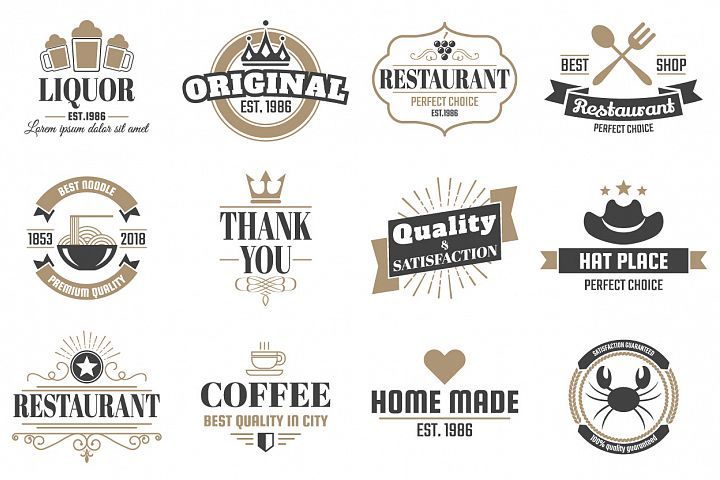 60 Vintage Logo Set example 5