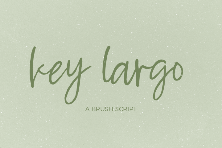 Key Largo Brush Script
