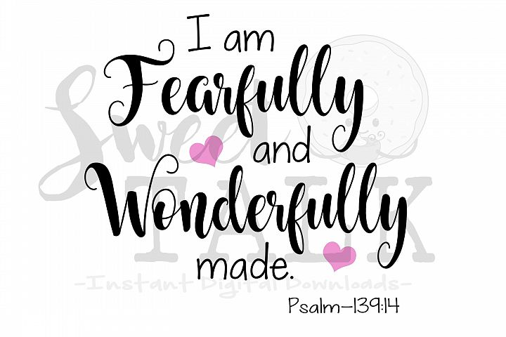 I am fearfully and wonderfully made-Instant digital download