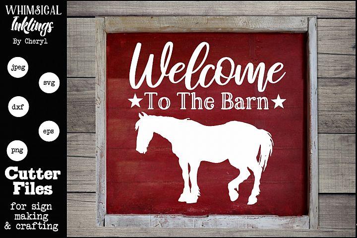 Horse Barn SVG