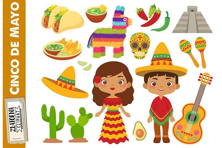 Mexican clip art Cinco de Mayo clipart Fiesta clipart