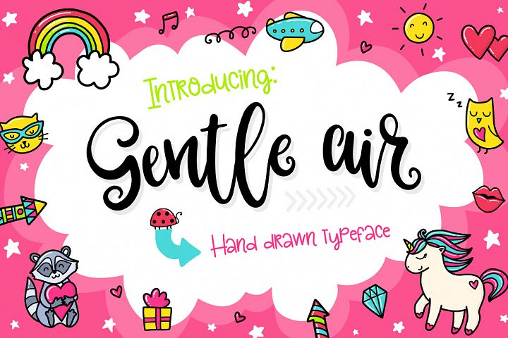 Gentle Air Typeface example image 1