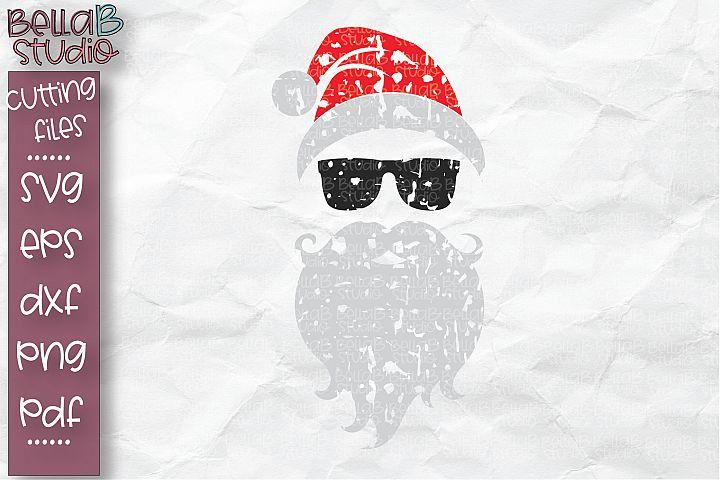 Christmas SVG, Hipster Santa SVG, Santa with Sunglasses