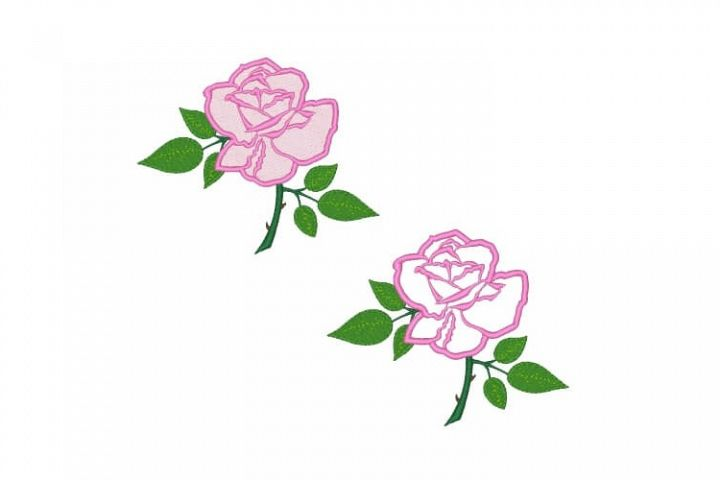 Rose Machine Embroidery Designs Set of 3
