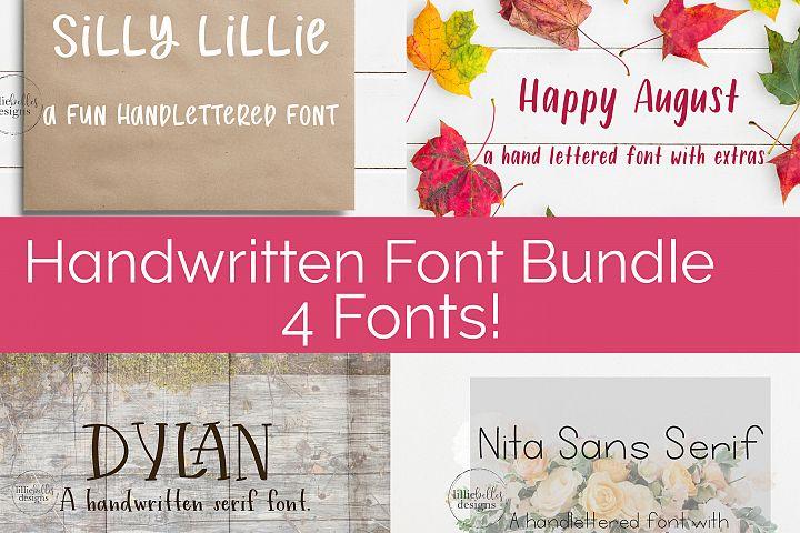 Handwritten Print Fonts bundle