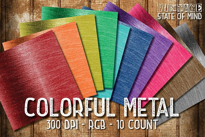 Colorful Metal Digital Papers