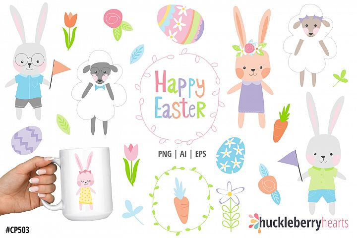 Easter Friends Clipart
