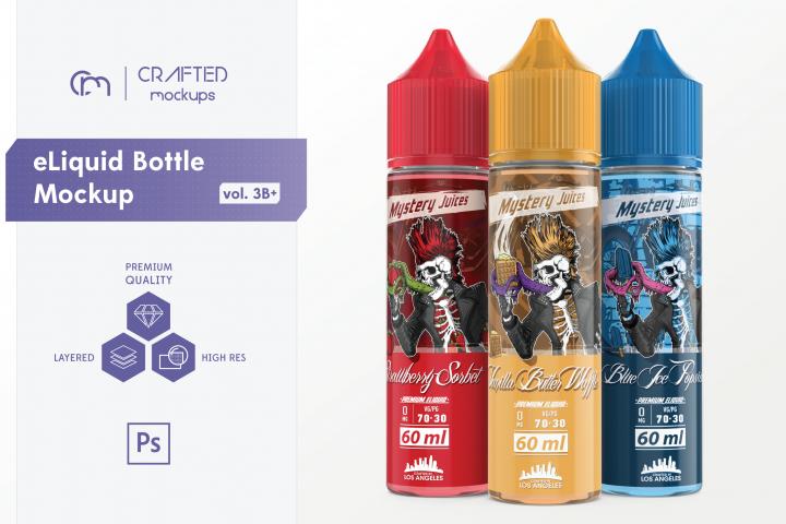 eLiquid Bottle Mockup v. 3B Plus