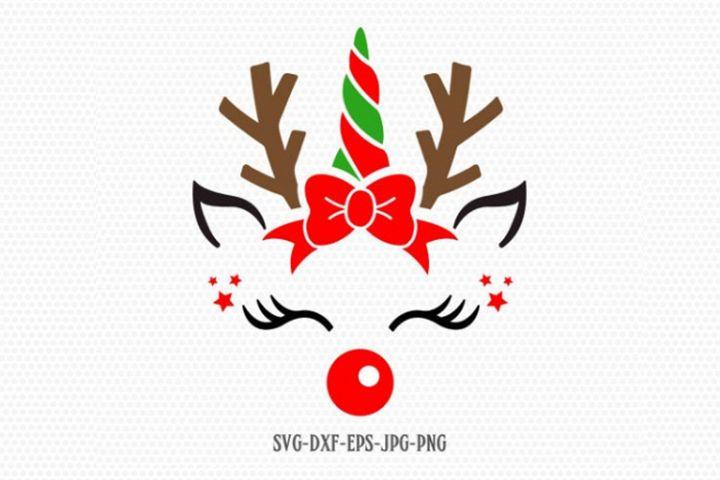 Unicorn svg, Christmas unicorn svg, Reindeer SVG,