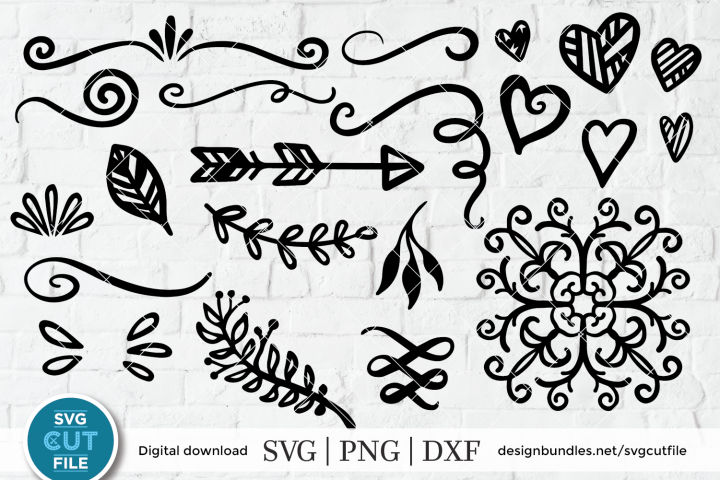 Flourish svg, swoosh svg, swashes svg, swirl svg, squiggle