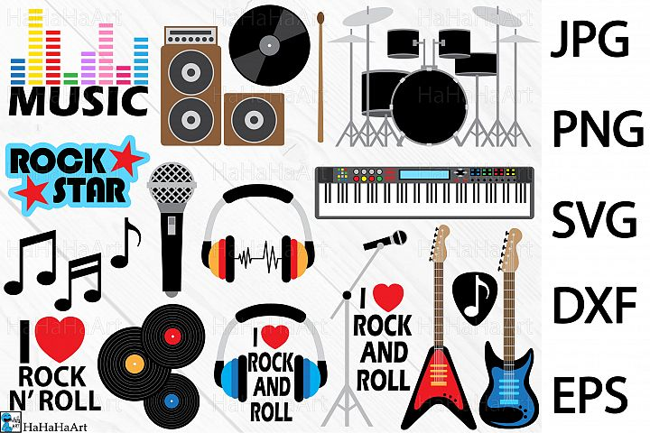 THE ROCK AND ROLL - Clip art / Cutting Files 165c