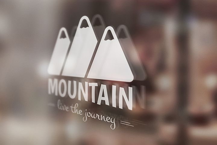 Mountain Logo Template example 4
