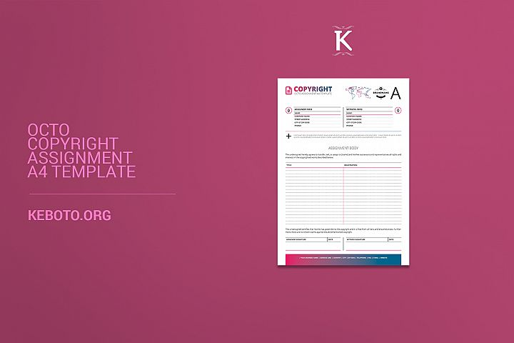 Octo Copyright Assignment A4 Template