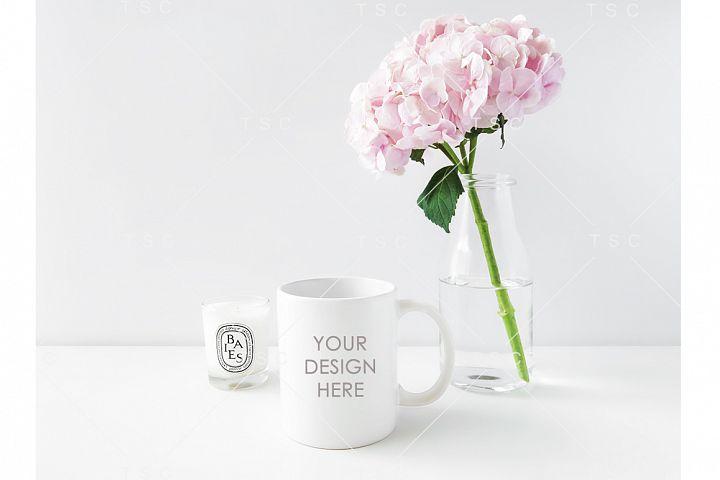 Feminine White Mug Mockup