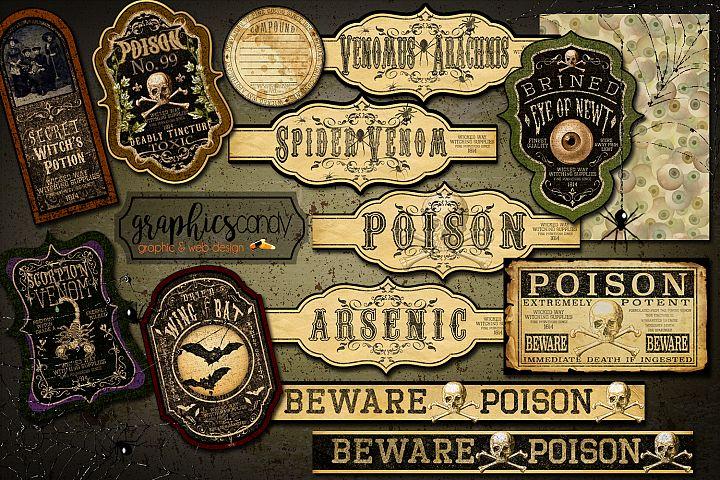 Halloween Apothecary Labels - Halloween Stickers - Halloween