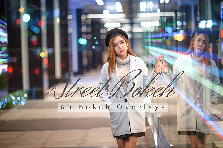 60 Street Bokeh lights Effect Photo Overlays