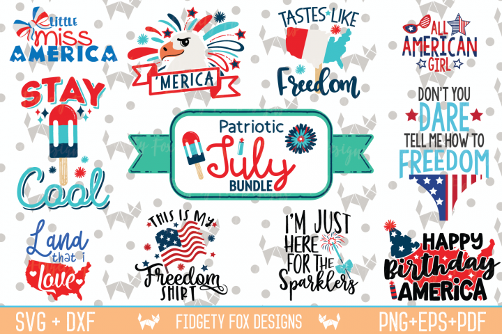 Merica Bundle, Patriotic designs, Independence Day July svgs